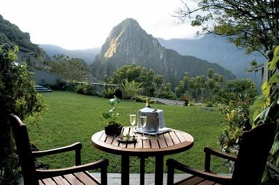 Hotel terrasse med udsigt