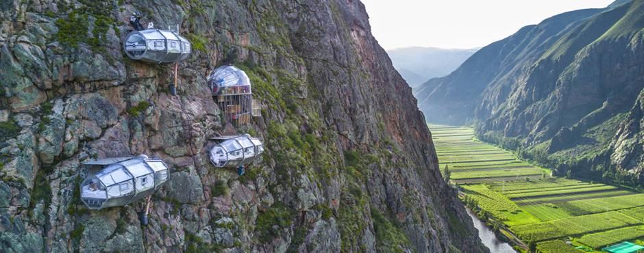 skylodge kapsel i Peru