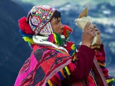 shaman på andesbjergene