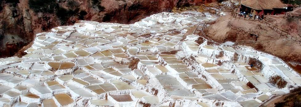 Saltterrasser i Cusco Peru
