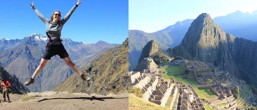 Glad vandrer inca trail og Machu Picchu ruiner