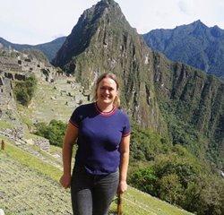 Anne på Machu Picchu